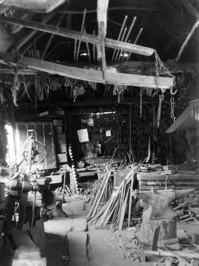Old Smithy Interior--Photographic Print