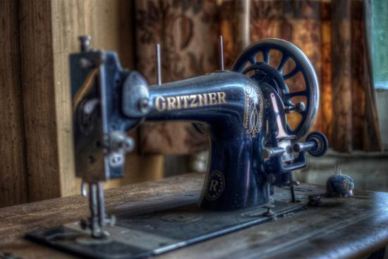 Old Sowing Machine-Nathan Wright-Photographic Print