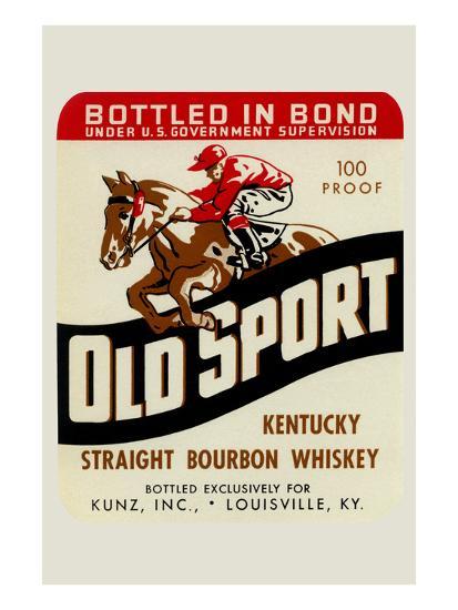 Old Sport Kentucky Straight Bourbon Whiskey--Art Print