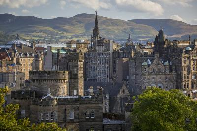 Old St Andrews House and Buildings of Edinburgh, Scotland-Brian Jannsen-Photographic Print