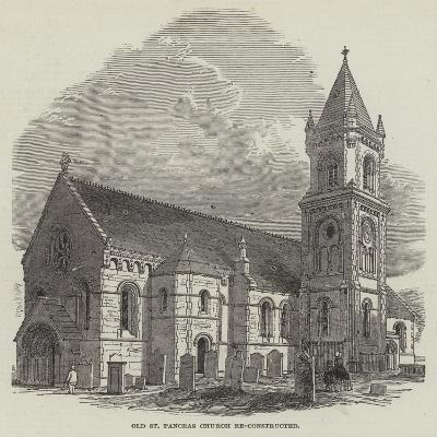 Old St Pancras Church Re-Constructed--Giclee Print
