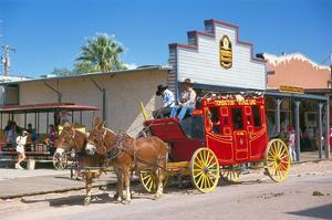 Old stagecoach at the western town Tombstone, Arizona, USA