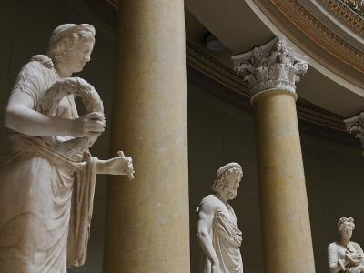 Old Statues in the Egyptian Museum, Berlin, Germany, Europe-Michael Runkel-Photographic Print