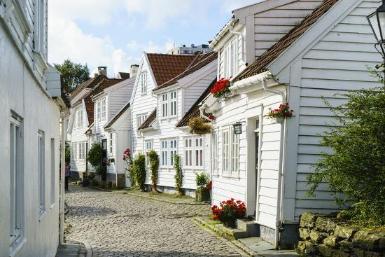 Old Stavanger (Gamle Stavanger) - About 250 Buildings Dating from Early 18th Century, Norway-Amanda Hall-Photographic Print