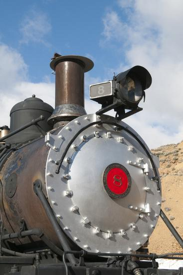 Old Steam Locomotive, Gold Hill Train Station, Virginia City, Nevada, USA-Michael DeFreitas-Photographic Print