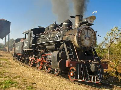 Old Steam Locomotive, Trinidad, Cuba, West Indies, Caribbean, Central America--Photographic Print