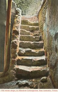 Old Steps, Mission Concepcion, San Antonio, Texas