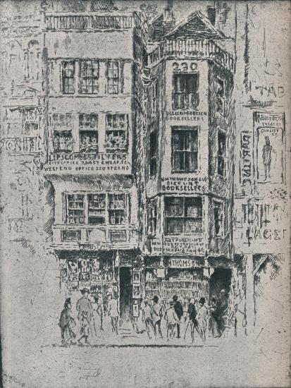 Old Strand Shops, c1900, (1906-7)-Joseph Pennell-Giclee Print