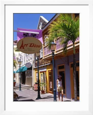 Old Street Of Philipsburg St Martin Caribbean Photographic Print Greg Johnston Art Com
