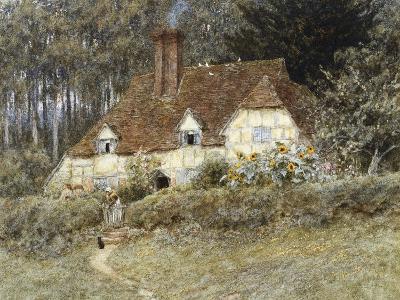 Old Surrey Cottage-Helen Allingham-Giclee Print