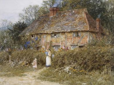 Old Surrey Cottage-Helen Allingham-Giclee Print