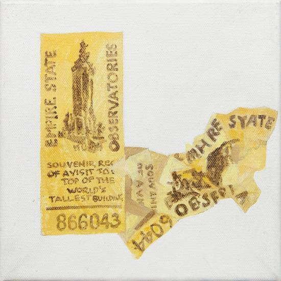 Old ticket of Empire State Builidng, 1 ticked torn up-Jennifer Abbott-Giclee Print