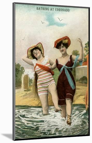 Old Time Bathing Beauties, Coronado, California--Mounted Art Print