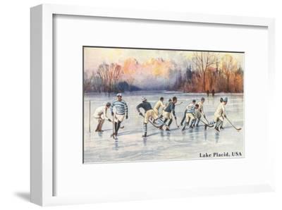 Old Time Hockey on Lake Placid, New York