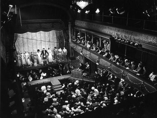 Old Time Music Hall Show--Photographic Print
