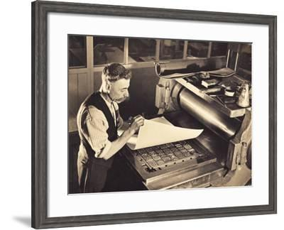 Old-Time Printing Press--Framed Photographic Print