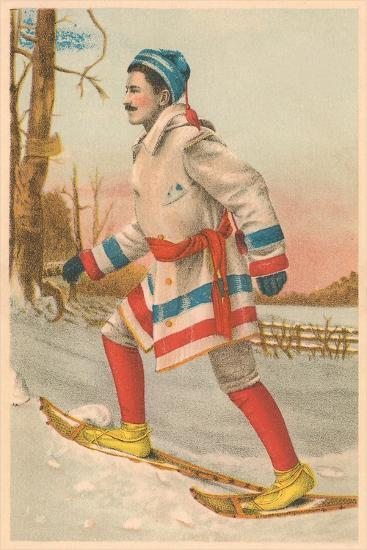 Old Time Snow Shoer--Art Print
