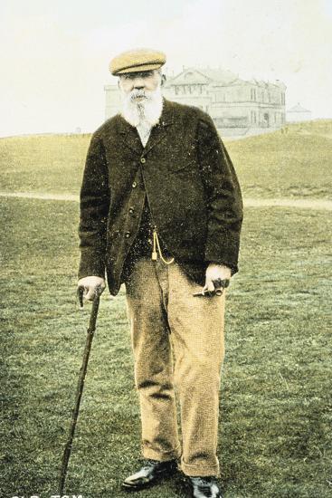 Old Tom Morris, Scottish golfer, postcard, 1900-Unknown-Photographic Print