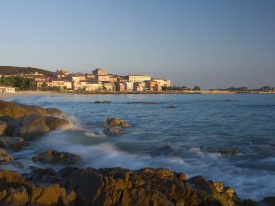 Old Town and Beach, L'Lle Rousse, Corsica, France, Mediterranean, Europe-Mark Banks-Photographic Print