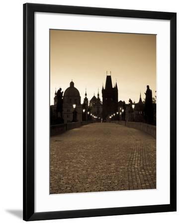 Old Town and Charles Bridge at Dawn, Prague, Czech Republic-Doug Pearson-Framed Photographic Print