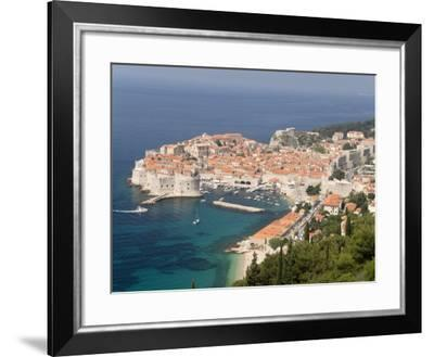 Old Town and Old Port, Seen from the Hills to the Southeast, Dubrovnik, Croatia-Waltham Tony-Framed Photographic Print