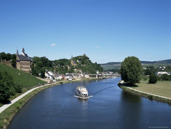 Old Town and River Saar, Saarburg, Rheinland-Pfalz (Rhineland Palatinate), Germany-Hans Peter Merten-Photographic Print