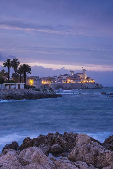 Old Town and Sea Wall in Antibes, Alpes-Maritimes, Provence-Alpes-Cote D'Azur-Jon Arnold-Photographic Print