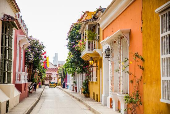 Old Town, Cartegena, Colombia, South America-Laura Grier-Photographic Print
