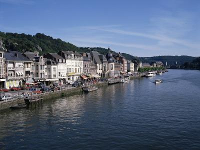 Old Town, Dinant, and River Meuse, Ardennes, Belgium-Hans Peter Merten-Photographic Print