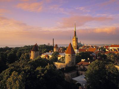 Old Town from Toompea, Tallinn, Estonia-Jon Arnold-Photographic Print