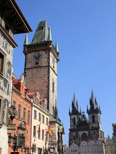Old Town Hall and Tyn Cathedral, Prague, Czech Republic, Europe-Hans Peter Merten-Photographic Print