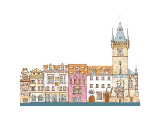 Old Town Hall, Prague, Czech-Fernando Aznar Cenamor-Giclee Print
