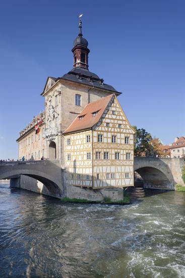 Old Town Hall, UNESCO World Heritage Site, Regnitz River, Bamberg, Franconia, Bavaria, Germany-Markus Lange-Photographic Print
