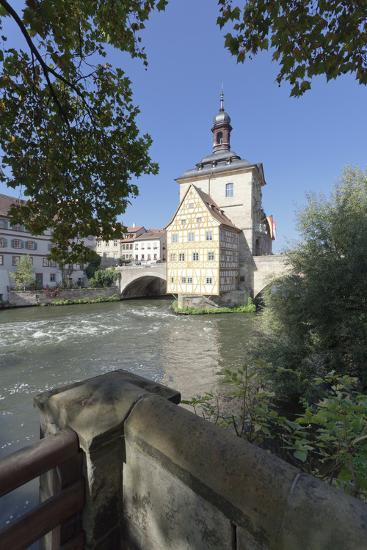 Old Town Hall, UNESCO World Heritage Site, Regnitz River, Bamberg, Franconia, Bavaria, Germany-Markus Lange-Photographic Print