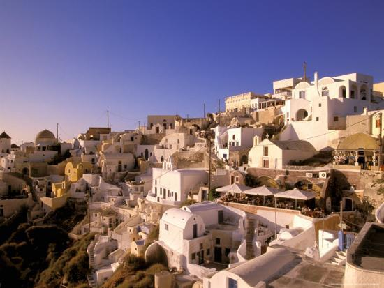 Old Town in Late Afternoon, Santorini, Cyclades Islands, Greece-Walter Bibikow-Photographic Print