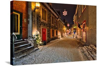 Old town of Quebec City Canada--Stretched Canvas Print