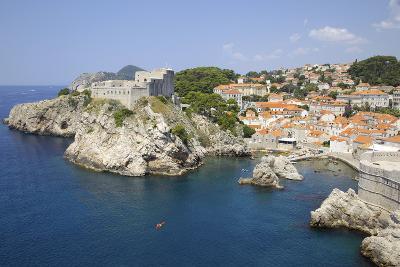 Old Town Rooftops, UNESCO World Heritage Site, Dubrovnik, Dalmatian Coast, Croatia, Europe-Frank Fell-Photographic Print