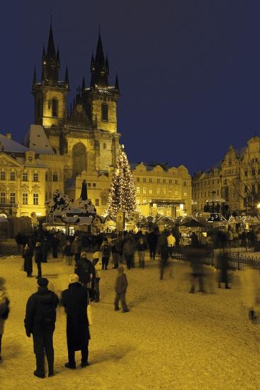 Old Town Square and the Church of Our Lady before Týn, Prague, Czech Republic--Photographic Print