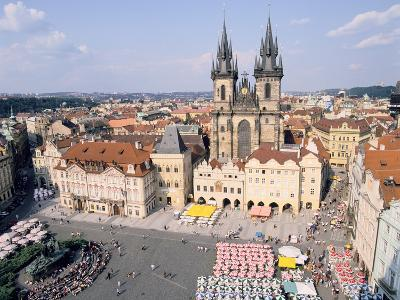 Old Town Square and Tyn Church, Prague, Czech Rebublic-Peter Thompson-Photographic Print