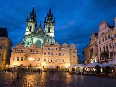 Old Town Square in the Evening, Old Town, Prague, Czech Republic-Martin Child-Photographic Print