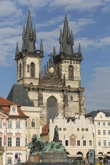 Old Town Square (Staromestske Namesti) and Tyn Cathedral (Church of Our Lady before Tyn)-Angelo-Photographic Print