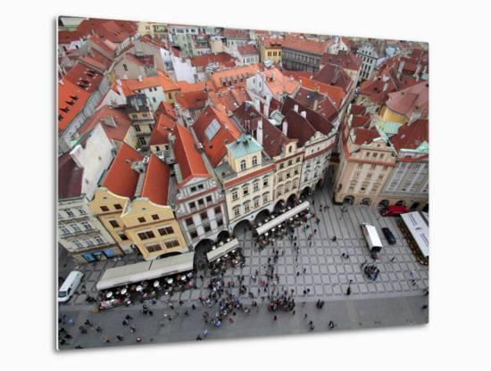 Old Town Square, UNESCO World Heritage Site, Prague, Czech Republic, Europe-Hans Peter Merten-Metal Print