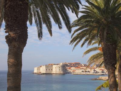 Old Town Through Palm Trees, Dubrovnik, Croatia, Europe-Martin Child-Photographic Print