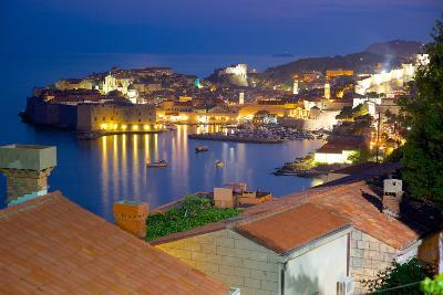 Old Town, UNESCO World Heritage Site, at Dusk, Dubrovnik, Dalmatia, Croatia, Europe-Frank Fell-Photographic Print