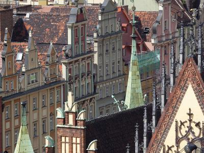 Old Town View from Marii Magdaleny Church, Wroclaw, Silesia, Poland, Europe-Frank Fell-Photographic Print