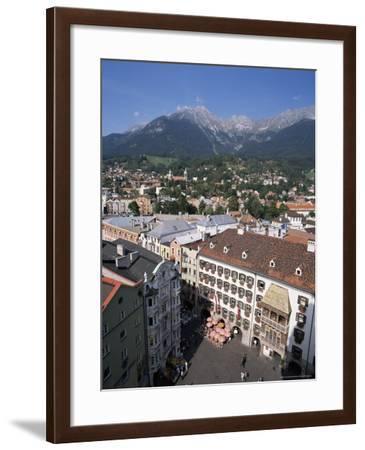 Old Town with Goldenes Dachl, Innsbruck, Austria-Hans Peter Merten-Framed Photographic Print