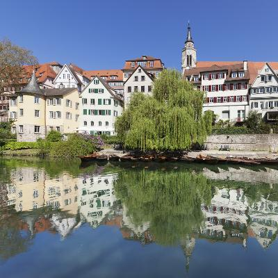 Old Town with Hoelderlinturm Tower and Stiftskirche Church Reflecting in the Neckar River-Markus Lange-Photographic Print