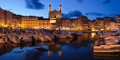 Old Town with Old Harbor and Eglise Saint-Jean-Baptiste De Bastia--Photographic Print