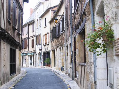 Old Town with Stone and Wooden Beam Houses, Bergerac, Dordogne, France-Per Karlsson-Photographic Print