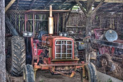 Old Tractor Shed-Bob Rouse-Photographic Print